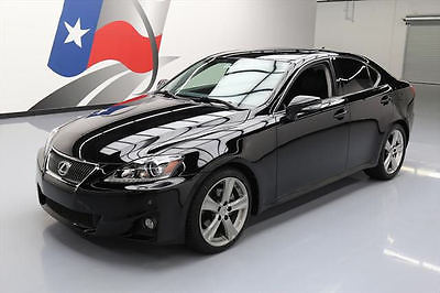 2012 Lexus IS Base Sedan 4-Door 2012 LEXUS IS250 VENT LEATHER SUNROOF NAV REAR CAM 62K #184400 Texas Direct Auto