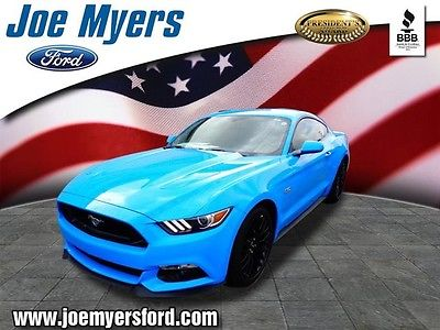 2017 Ford Mustang GT 2017 Ford Mustang GT Grabber Blue 2D Coupe 5.0L V8 Ti-VCT 6-Speed Manual