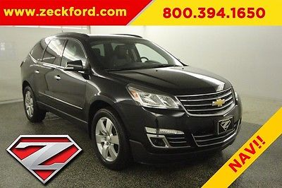 2013 Chevrolet Traverse LTZ 3.6L V6 FWD Bose Leather Navigation Bucket Seats Heated Cooled Backup Cam XM