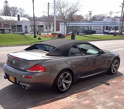 2008 BMW M6 M6 Convertible 30 k miles garage kept stratus metallic ext red interior carbon fiber trim rare