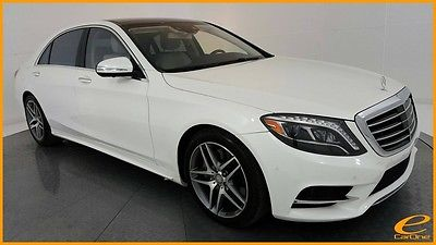 2014 Mercedes-Benz S-Class S550 4MATIC | AMG SPORT | P1 | REAR PKG | DISTRONI Diamond White Metallic Mercedes-Benz S-Class with 45,078 Miles available now!