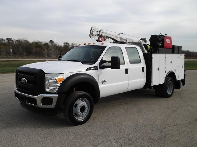 2012 Ford F550 Xl Crew Cab, 22' Crane Truck, 6000   Contractor Truck