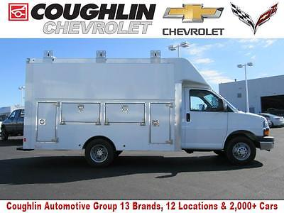 2016 Chevrolet Express Utility Van 2016 Chevrolet Express Commercial Cutaway Utility Van 5 Miles Summit White Truck