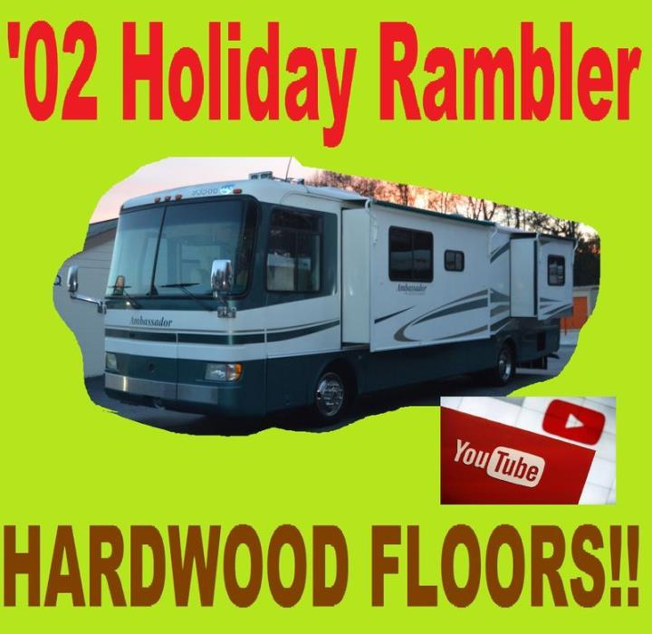 2002 Holiday Rambler Ambassador 36PBD Hardwood Floors Must Se