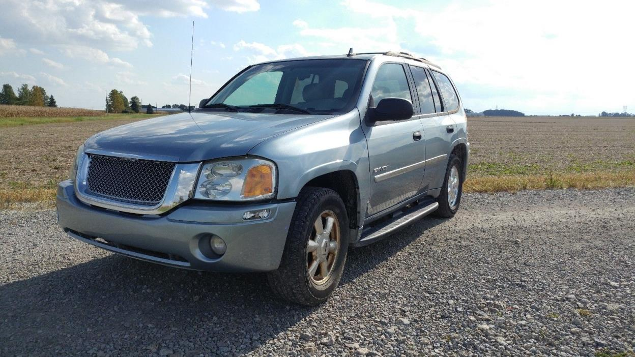 2006 GMC Envoy Tan 2006 GMC Envoy. Light Blue. Tan Leather Seats. 119,000 MI. 4WD. 6 CYL.