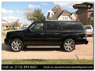 2005 Cadillac Escalade ESV 2005 Cadillac Escalade ESV 120350 Miles BLACK Sport Utility 6.0 Automatic