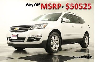 2017 Chevrolet Traverse Premier Sport Utility 4-Door New Navigation Heated Cooled Leather Player Captains 16 2016 17 White Pearl