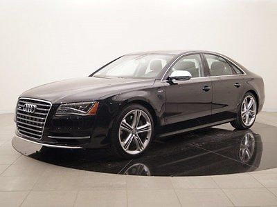 2014 Audi S8 quattro 2014 Audi S8 quattro 3,976 Miles Black 4dr Car Twin Turbo Premium Unleaded V-8 4