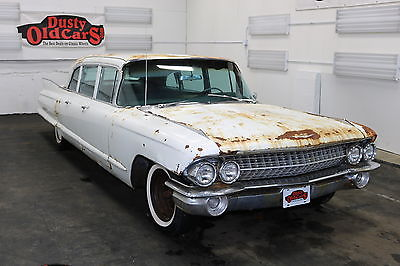1961 Cadillac Fleetwood Runs Yard Drives 390V8 Body Int Fair Great Project 1961 White Runs Yard Drives 390V8 Body Int Fair Great Project!