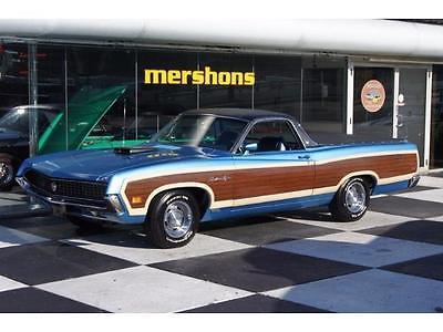 1970 Ford Ranchero  1970 ford ranchero 351 v 8 original ca truck believed to be 10 k original miles