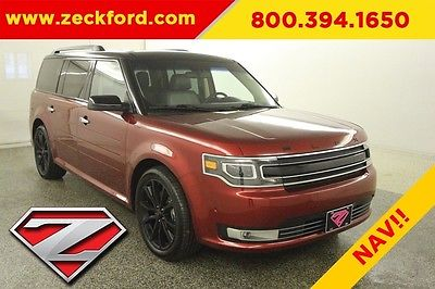 2016 Ford Flex Limited All Wheel Drive 3.5 EcoBoost AWD Bucket Seats Navigation Leather Heated Seats Tow Pack Backup Ca