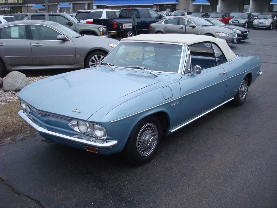 1965 Chevrolet Corvair convertible 1965 Corvair convertible blue new top cross turbo 4 speed new top driver quality