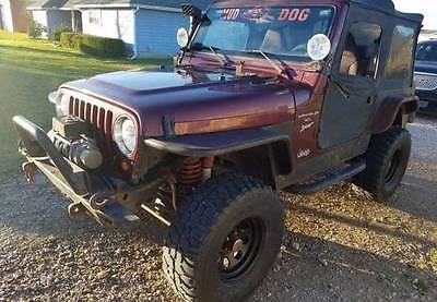 2001 Jeep Wrangler Sport 2001 Jeep Wrangler, Burgundy with 112500 Miles available now!