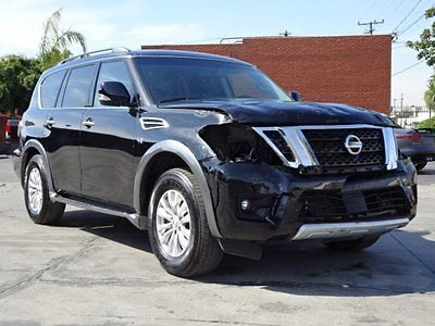 2017 Nissan Armada SV Sport Utility 4-Door 2017 Nissan Armada 4WD Damaged Salvage Only 12K Miles Loaded w Options Wont Last