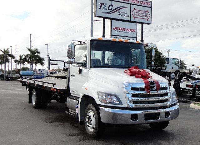 2017 Hino 258lp  Flatbed Truck