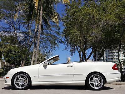 2008 Mercedes-Benz CLK-Class 5.5L 2008 Mercedes-Benz CLK-Class 5.5L 69,916 Miles Arctic White Convertible 8 Cylind