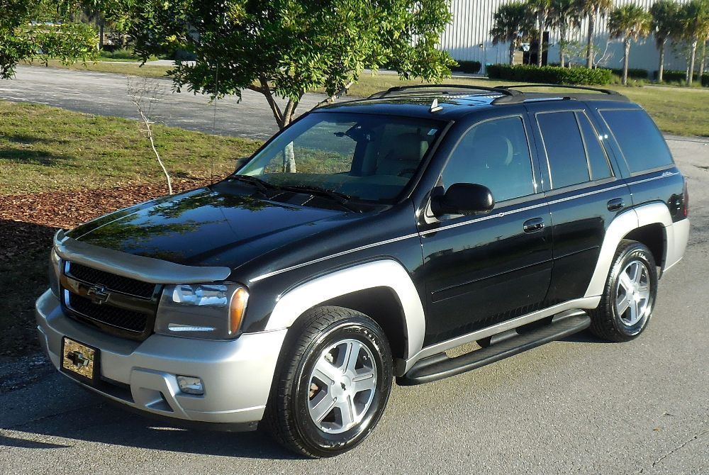 2007 Chevrolet Trailblazer GORGEOUS 4x4 LT~CERTIFIED CARFAX~SERVICE RECORDS BLACK/SILVER~SUNROOF~LEATHER~ALLOYS~HEATED SEATS~GROUP 2~SOLID TRUCK!08 09 10
