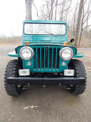 1951 Jeep CJ CJ 1951 JEEP WILLYS OVERLAND CJ3A 4x4 4cyl L-HEAD DEVIL GO MOTOR OLDER RESTORATION