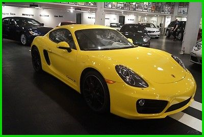 2015 Porsche Cayman S 2015 S Used 3.4L H6 24V Manual RWD Coupe Bose Premium