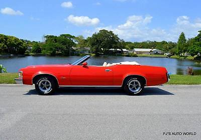 1973 Mercury Cougar XR7 1973 Mercury Cougar XR7 74,119 Miles Red Convertible 351 Automatic