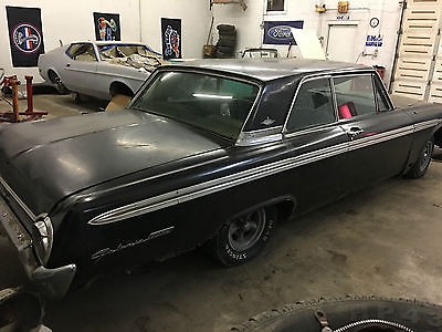 1962 Ford Galaxie RARE GALAXIE 406 4 SPEED 3 DEUCES RAVEN BLACK 1962 FORD GALAXIE RAVEN BLACK 406 - 6 BARREL FOUR SPEED TRIPOWER REAL G CODE