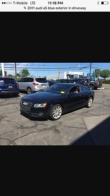 2011 Audi A5 Coupe Exterior Dark blue interior brown 2011 Audi A5 coupe