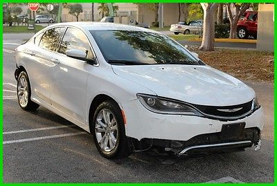 2015 Chrysler 200 Series Limited 2015 Limited Chrysler 200 Runs&Drives Low miles Rebuilder Salvage Fixer Project