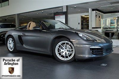 2014 Porsche Boxster Base Convertible 2-Door 2014 Convertible Used Premium Unleaded H-6 2.7 L/165 Automatic RWD Leather Gray