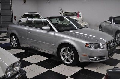 2007 Audi A4 Cabriolet Convertible ONLY 25K MILES - LIKE NEW!! CLEAN CARFAX - SERVICED AT AUDI DEALER - LOW 25K MILES - CERTIFIED CARFAX !