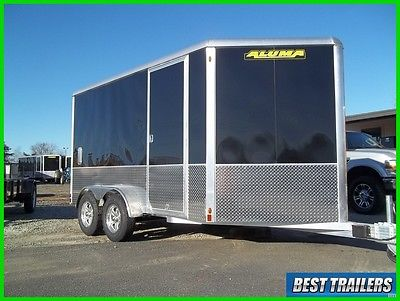 2018 Aluma AE712TAM cargo enclosed aluminum trailer 7 x 12 motorcycle w extra hi