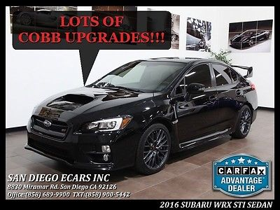 2016 Subaru WRX  2016 Subaru STI Sedan With Many Cobb Upgrades 12k Miles 1 Owner