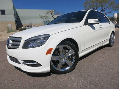2011 Mercedes-Benz C-Class C300 Sport Sedan Premium Package Sunroof Navigation Chrome Wheels White 2009 2010 2012 c250 c300