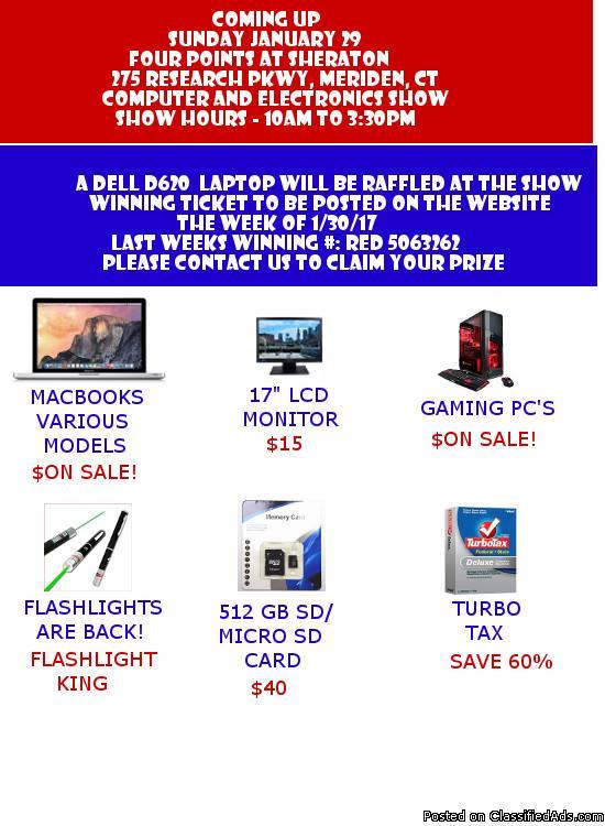 Computer Show and Sale-Sun Jan 29, 2017