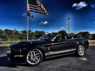 2007 Ford Mustang SHELBY GT500 CONVERTIBLE HELBY GT500*CONVERTIBLE*BLACK/RED*LEATHER*SHAKER*STOCK*CARFAX CERT*WE FINANCE