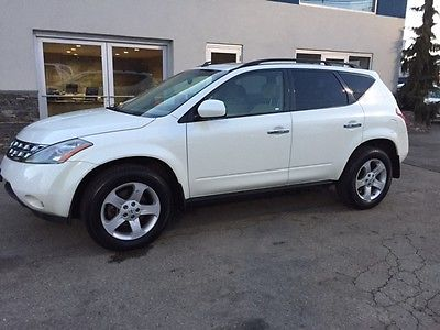 2005 Nissan Murano SL Sport Utility 4-Door 2005 Nissan Murano SL SUV AWD 4x4 White Low Miles Clean Carfax Needs Work