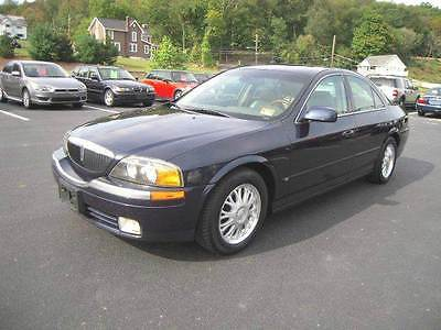 2001 Lincoln LS Base 4dr Sedan V6 2001 Lincoln LS Base 4dr Sedan V6 3.0L V6 Automatic 5-Speed Blue