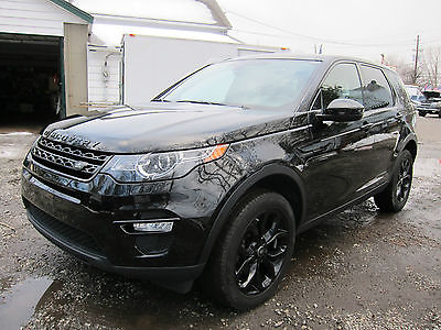 2016 Land Rover Discovery  Sport Utility 4-Door LAND ROVER DISCOVERY SPORT 2016 REPAIRABLE REBUILDABLE SALVAGE BLACK