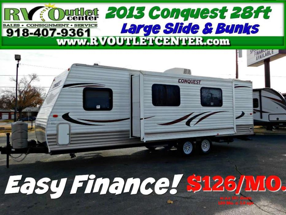2013 Gulf Stream Conquest RV 28ft with large Slide & Bunks!