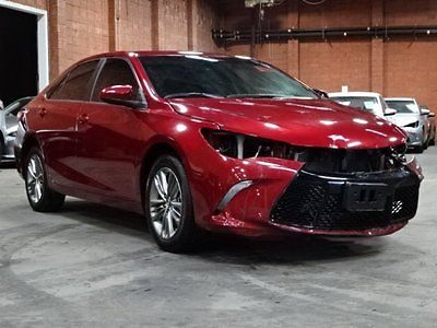 2016 Toyota Camry SE 2016 Toyota Camry SE Damaged Salvage Only 13K Miles Gas Saver Perfect Color L@@K