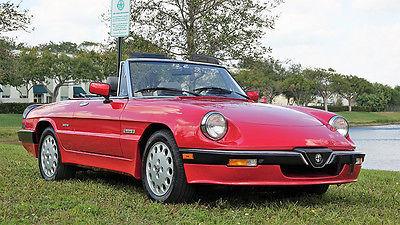 1986 Alfa Romeo Spider Convertible 1986 Alfa Romeo Spider Quadrifoglio Verde