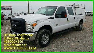 2014 Ford F-250 XL 2014 Ford F-250 Crew Cab Short Bed Utility Camper Bed Shel 6.7L Diesel Pickup