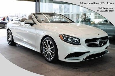 2017 Mercedes-Benz S-Class AMG S63 2017 Mercedes-Benz S-Class 15 Miles Designo Diamond White Metallic Convertible 8