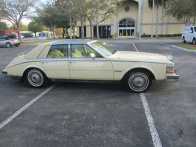 1983 Cadillac Seville  1983 CADILLAC SEVILLE CREEM PUFF SAME OWNER FOR 32 YEARS LOW MILES RARE FL CAR