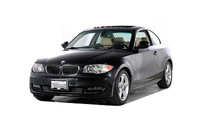 2011 BMW 1-Series 128i 2011 BMW 1 Series 128i 65942 Miles Black 2D Coupe 3.0L I6 DOHC 24V 6-Speed Autom