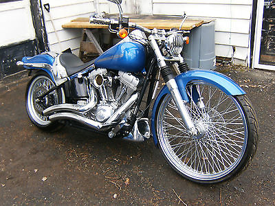 2007 Harley-Davidson Softail  harley softail 26 wheel tire 96 inch 6 speed custom bobber chopper no reserve 07