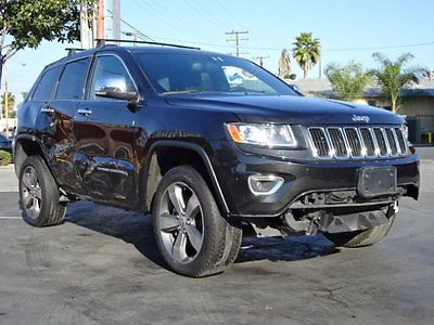 2014 Jeep Grand Cherokee Limited 4WD 2014 Jeep Grand Cherokee Limited 4WD Damaged Salvage Loaded w Options Wont Last!
