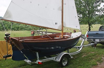 sailboat 16' classic wooden custom built one year old with trailer