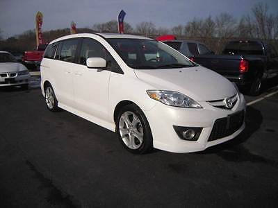 2010 Mazda Mazda5 Touring 4dr Mini Van 5A 2010 Mazda MAZDA5 Touring 4dr Mini Van 5A 2.3L I4 Automatic 5-Speed White