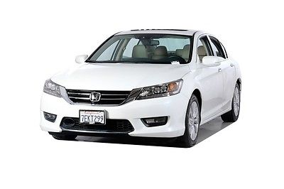 2014 Honda Accord Touring 2014 Honda Accord Touring 28152 Miles White 4D Sedan 3.5L V6 SOHC i-VTEC 24V 6-S