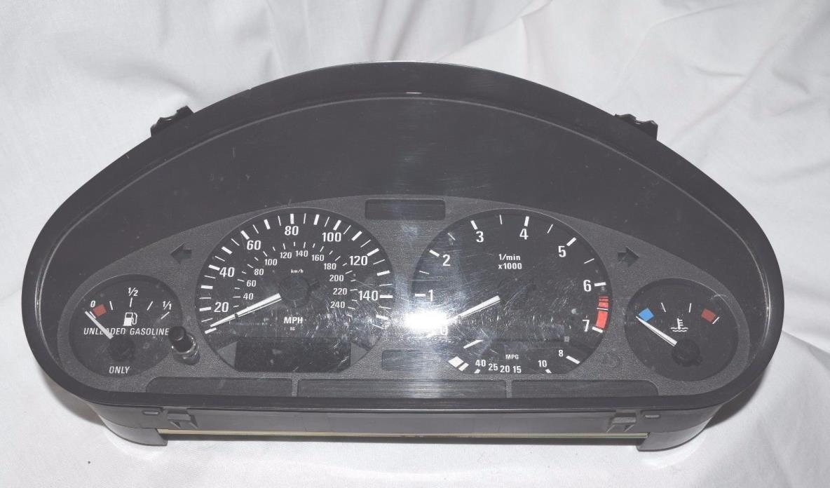 1980 BMW 3-Series GENUINE BMW 3 SERIES INSTRUMENT CLUSTER SPEEDO CLOCKS MOTOMETER 1997